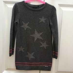 Ikks Girls Sweater Star Dress French Designer - 6